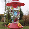 Image of Hand Painted Hummingbird Feeder